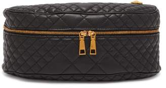 Versace Medusa Leather Cross Body Bag - Mens - Black