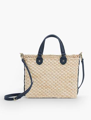 Woven Cornhusk Satchel Crossbody Bag $139 thestylecure.com