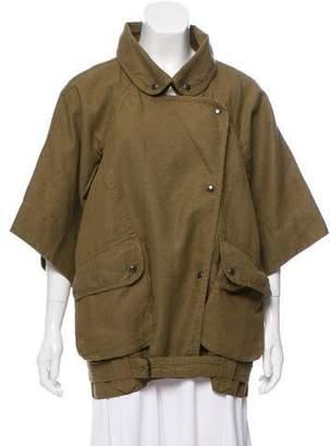 Isabel Marant Oversize Linen-Blend Coat