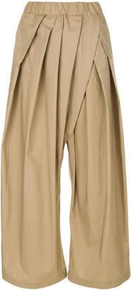 Marni pleated wide leg trousers