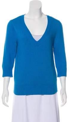L'Agence Knit V-Neck Sweater
