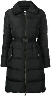 Versace zipped padded parka coat