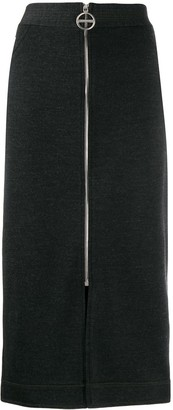 Givenchy front zip pencil skirt