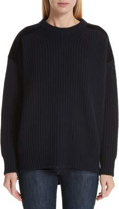 Moncler Genius by Velvet Trim Wool & Cashmere Sweater