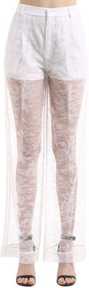 Givenchy Sheer Lace Wide Leg Pants