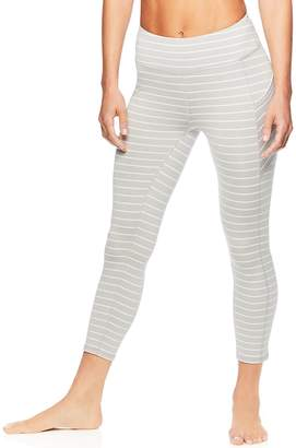 11e6d86e84 Gaiam Women's Om Stripe Yoga Midrise Capri Leggings