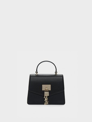 DKNY Elissa Mini Pebbled Leather Satchel
