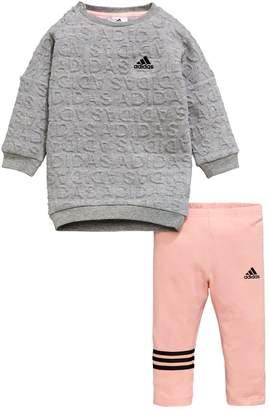 adidas Baby Girls Sweat Dress Set