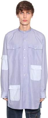 J.W.Anderson Stripes Cotton Long Shirt W/ Pockets