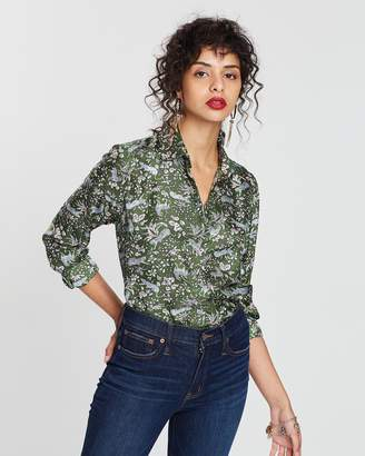 J.Crew Mad Scientist Silk Twill Shirt