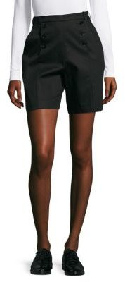 Carven Solid Button-Front Shorts
