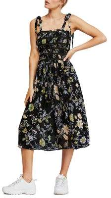 Free People Isla Floral Midi Dress