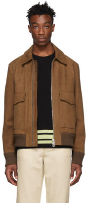 Acne Studios Brown Leather Lazlo Jacket