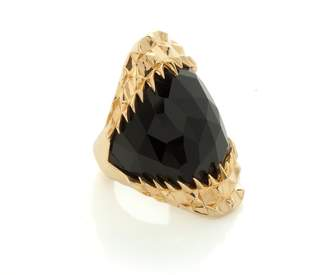 Kasun - Black Vampire Bite Ring Gold