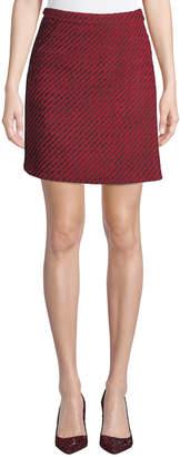 Akris Punto Tweed Wrap Mini Skirt