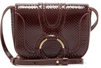 See by Chloe Hana Mini Python Embossed Leather Cross Body Bag - Womens - Burgundy