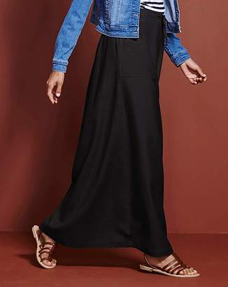 Petite Essential Linen Mix Maxi Skirt