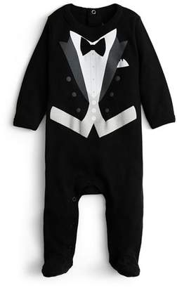 Bloomingdale's Sara Kety Boys' Black Tie Footie - Baby
