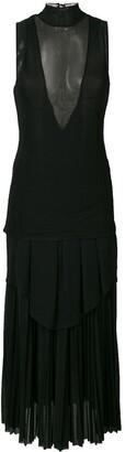 Proenza Schouler sheer panel long shift dress