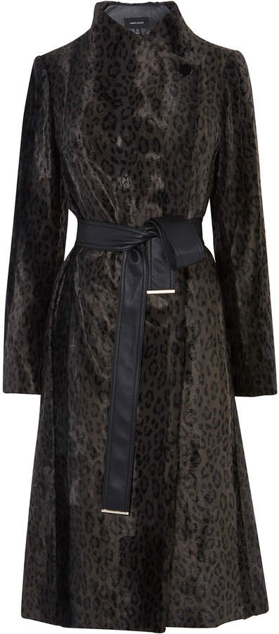 Leopard Tailored Wrap Coat