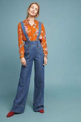 Pilcro And The Letterpress Pilcro Bibbed Denim Jumpsuit