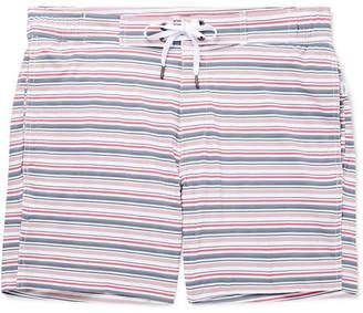 Onia Alek Mid-Length Striped Swim Shorts