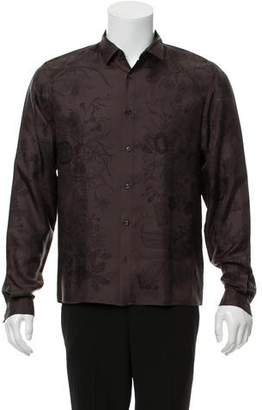 Gucci Duke Silk Floral Print Button-Up Shirt