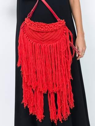 Stella McCartney Woven fringe bag