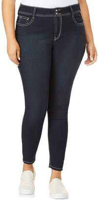 Juniors' Plus Size Wallflower Luscious Curvy Bling Skinny Jeans