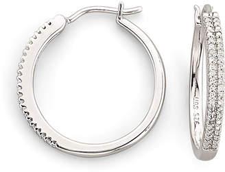 JCPenney FINE JEWELRY 1/10 CT. T.W. Diamond Sterling Silver Hoop Earrings