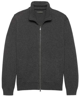 Banana Republic Cashmere Full-Zip Sweater Jacket