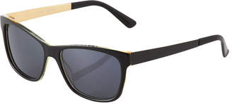 Gucci Square Plastic/Metal Sunglasses
