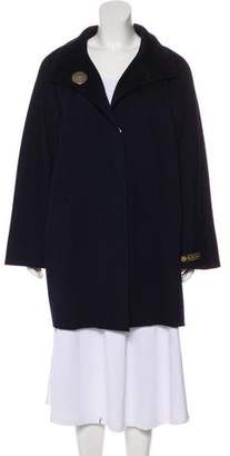 Les Copains Wool Knee-Length Coat