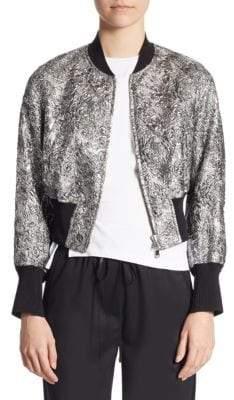3.1 Phillip Lim Floral Metallic Bomber Jacket