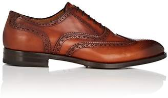Antonio Maurizi MEN'S BURNISHED LEATHER WINGTIP BLUCHERS