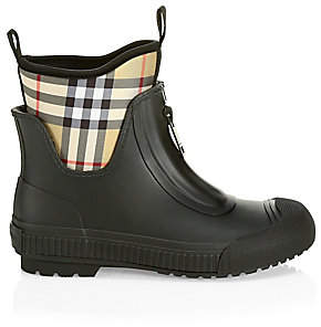 Burberry Women's Short Plaid Rainboots