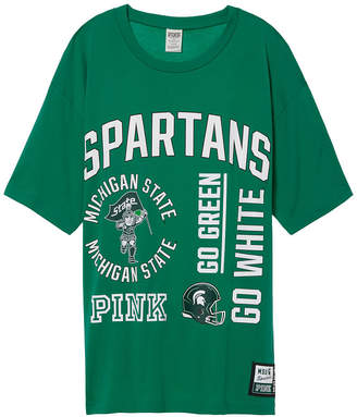 Tailgate PINK Michigan State University Oversized Tee