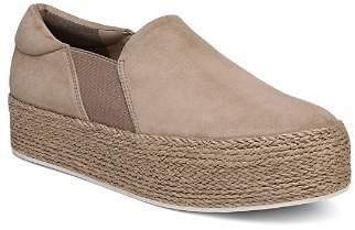 Vince Women's Wilden Suede Espadrille Platform Slip-On Sneakers