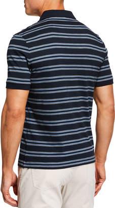 Original Penguin Men's Short-Sleeve Auto Stripe Slub Polo Shirt