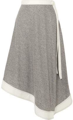Asymmetric Linen And Ramie-blend Midi Skirt - Stone