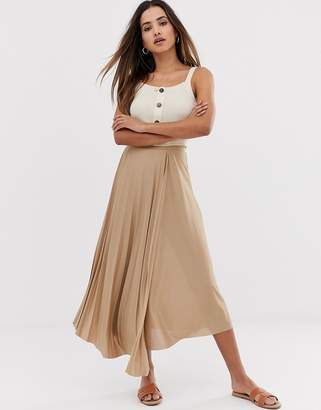 Asos Design DESIGN cut about wrap pleated city maxi skirt