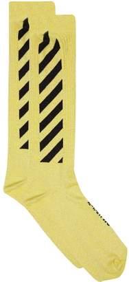 Off-White Off White Long Striped Socks