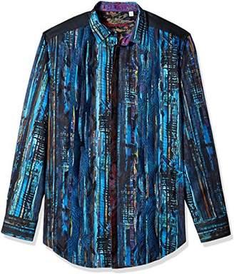 Robert Graham Men's Tall Size Kathleens Blues L/s Woven Shirt