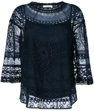 Chloé crochet blouse