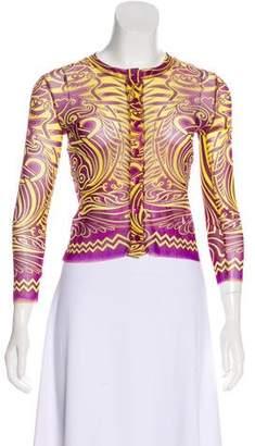 Jean Paul Gaultier Soleil Patterned Long Sleeve Cardigan w/ Tags