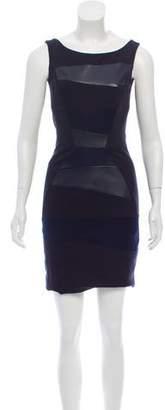 Doo.Ri Leather-Accented Sleeveless Dress