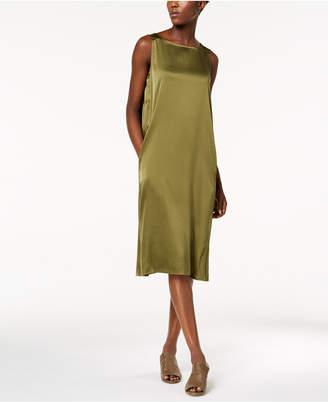 Eileen Fisher Silk Bateau-Neck Tank Dress
