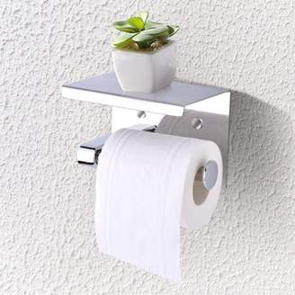 +Hotel by K-bros&Co Ejoyous Toilet Accessories Toilet Paper Rack Stainless Steel Wall Double Roll Paper Rack Hotel Toilet Paper Towel Box Bathroom Toilet Paper Towel Rack Punching Toilet Paper Holder
