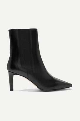 Leila aeydē Leather Ankle Boots - Black