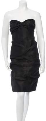J. Mendel Strapless Mini Dress